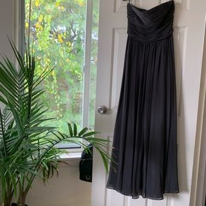 #verawang #bridesmaid dress charcoal grey